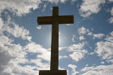 The cross is allover ...