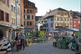 Vegetable market in Biel old city