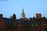 Empire State Building above roofs of Chelsea