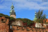 Defensive Wall and Wawel Cathedral's Tower in the Back