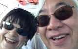 10 BFFs Carol and Ricky- on the ferry back to Marsh Harbour.JPG