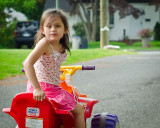 Izzy on her 4-Wheeler... The Kid is crazy!!!!