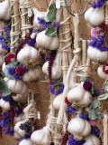 Garlic Strung with Dried Flowers