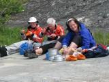 Bosse, Peggy och Ewa vid St Vinduskäret