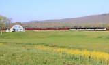 Waldens Ridge provides a nice background as OCS 952 sprints towards Emory Gap