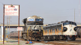 A Gevo waits at the South derail of the Debutts shop as the F units head downtown to turn on the wye