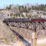 Northbound 952 departs Burnside and crosses the Cumberland River Bridge. They will arrive in Danville in less than a hour.