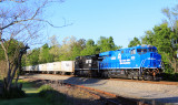 Conrail 8098 leads NS 251 at Burgin, KY