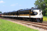 The outbound Derby train turns on the wye at the K&I yard in Louisville
