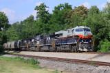 Central of Georgia 8101 leads NS train 50A South at Burgin Kentucky