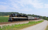 S&A 1065 is having no trouble lifting the passenger train up the mountain near Shawsville