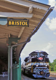 NS 958 in front of the Bristol station, after a flawless trip from Roanoke