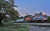 NS 8025, the MGA heritage engine, leads NS 251 South at Burgin