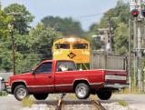 Chevy vs EMD and 12,000 tons of coal , 1067 almost got some red paint on it.