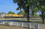 Church Bells, Picket Fences and a Yellow EMD on a Sunday morning