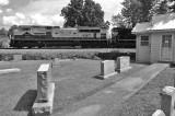 NS 77J passes the monument dealer in Harrodsburg KY