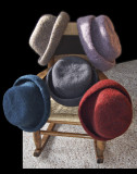 Five Felted Hats