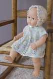 Dress And Bonnet For 15-16 Baby Doll
