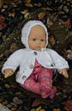 Sweater And Bonnet For 15-16 Baby Doll