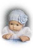 Flower Hat For 15-16 Baby Doll