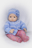 Boo Berries Sweater And Hat For 15-16 Baby Doll