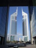 Emirates Towers view from DFM Dubai.JPG