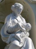 Zittende Maria met Kind  - Spinolarei 21- detail