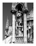 Notre Dame de Paris. (statue at back of the cathedral)