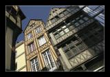 Rouen - Maisons à pans de bois.