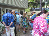 July 30, 2011: Luau-themed Social Event at the Lawrences' Residence