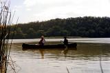 Bill in Canoe on Lake Dilouti
