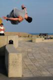 Acrobat in mid-air!