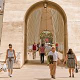 Crossing the bridge, Merida