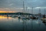 Yachts at sunset, Falmouth