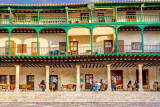 Balconies and people, Chinchón