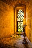 Candlestick and window, Lacock Abbey