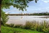 Reeds and road bridge, Merida
