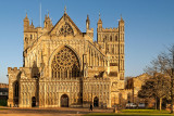 Cathedral front, Exeter, Devon