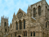 Tower and rose window, York Minster