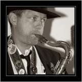Sax man, Portland, Dorset
