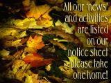 'Notice sheet' slide from the Autumn at Stourhead series