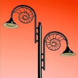 Street lamps, Lyme Regis (1796)