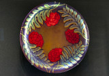 Wall platter with peony, fern (1901)