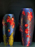Vase, poppies (1898); vase, grapevine (1898)