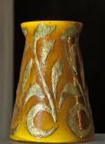 Vase, conical, leaf décor (1899)