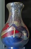 Vase with ibis