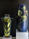 Vase, leaves (1900); vase, stems (1898)