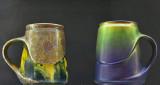 Beer steins, jewel (1905); monocrome glaze (1901)