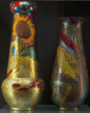 Vases, sunflowers, parrot (1907-1910)