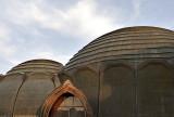 Community center, rear domes
